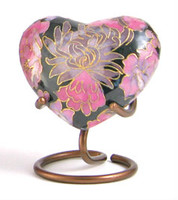 Elite Floral Blush - crafted of cloisonné - Heart Keepsake