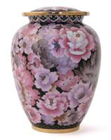 Elite Floral Blush Cloisonné urn - Large/Adult