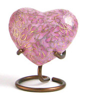 Essence Rose - crafted of cloisonné - Heart Keepsake