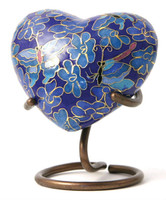 Etienne Butterfly - crafted of cloisonné, Heart Keepsake