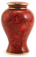 Etienne Autumn Leaves Cloisonné urn - Large/Adult