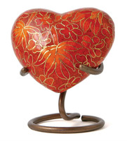 Etienne Autumn Leaves - crafted of cloisonné - Heart Keepsake