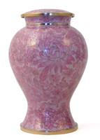 Etienne Rose Cloisonné urn - Large/Adult
