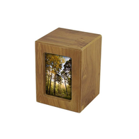 MDF Keepsake Photo Urn - Natural