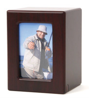 MDF Keepsake Photo Urn - Cherry
