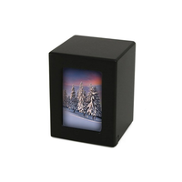 MDF Keepsake Photo Urn - Black
