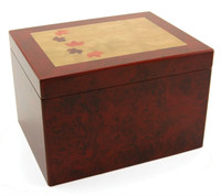 Autumn Leaves Memory Chest - crafted of MDF