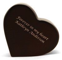 Heart Keepsake - Cherry finish
