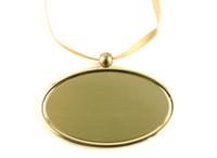 TC400 Golden Oval Pendant