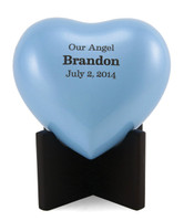 Infant Heart Urn - Pearl Blue