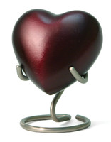 Monterey Ruby - Heart Keepsake