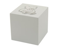 Teddy Bear Infant Urn - White