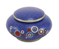 Opulence Cloisonné Keepsake Urn in Blue