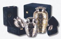"509/6"" Silver Gold Urn"