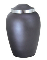 Solid Aluminum Urn with Beautiful Slate Matte Textured finish