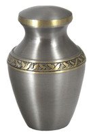 "3400/3"" Solid Brass with Brushed Pewter Finish - Keepsake"