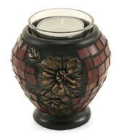 Mosaic Hibiscus Tealight Keepsake Candle