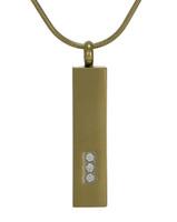 Pillar Cremation Jewelry - 14K gold plated finish