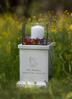 2410 Radiance Candle Urn in White