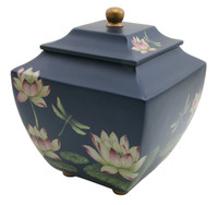 Water Lily Dragonflies Urn - Adult/Large
