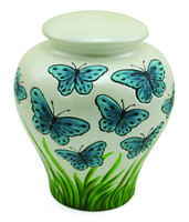 Blue Butterfly Ceramic - Large/Adult