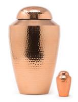 Hammered Copper Keepsake urn