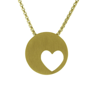 Eternity Heart Cremation Jewelry - 14K gold plated finish