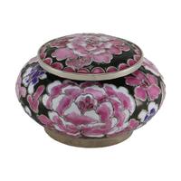 Filigree Floral Pink Cloisonné Keepsake Urn