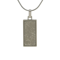 Textured Cremation Jewelry - Stainless Steel