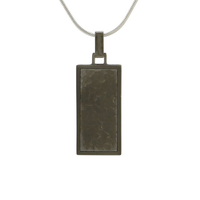Textured Cremation Jewelry - Onyx Finish