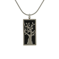 Embossed Tree Cremation Jewelry - Stainless Steel