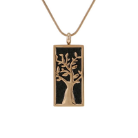 Embossed Tree Cremation Jewelry - Rose gold plated finish