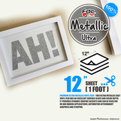 "Premium Ultra Metallics Vinyl - FDC 3700 - 12"" by Foot"