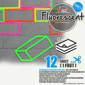 "Fluorescent Gloss Vinyl - FDC 2700 - 12"" by Foot"