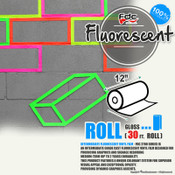 "Fluorescent Gloss Vinyl - FDC 2700 - 12"" x 30ft"