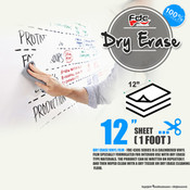 "Dry Erase Vinyl - FDC 4305 - 12"" by Foot"