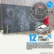 "Chalk Board Vinyl - FDC 4308 - 12""by Foot"