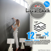 "Liquid Chalk Board Vinyl - FDC 4308 - 12"" by Foot"