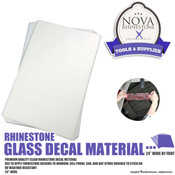 "Rhinestone Glass Decal Material - 12""x100ft Roll"