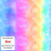 """Siser EasyPatterns 2 - 12"""" wide - Watercolor Rainbow"""