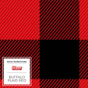 "Siser EasyPSV Patterns - 12"" wide - Buffalo Plaid Red"