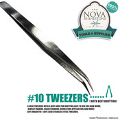 Tweezers #10 with Bent Knotting