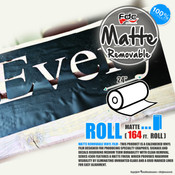 "Matte Removable Vinyl - FDC 4300 - 24"" wide 164 FEET ROLL"