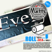 "Matte Removable Vinyl - FDC 4300 - 24"" wide 32.8 FEET ROLL"