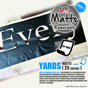 "Matte Removable Vinyl - FDC 4300 - 24"" wide BY YARD"