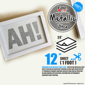 "Premium Ultra Metallics Vinyl - FDC 3700 - 12"" x 24"" Sheet"