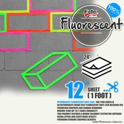 "Fluorescent Gloss Vinyl - FDC 2700 - 12"" x 24"" Sheet"