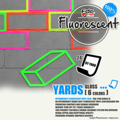 "Fluorescent Gloss Vinyl - FDC 2700 - 24"" wide BY YARD"