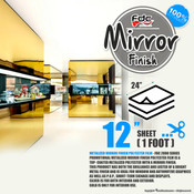 "Mirror Finish Vinyl - FDC 2800 - 12"" x 24"" Sheet"