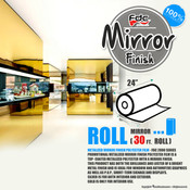 "Mirror Finish Vinyl - FDC 2800 - 24"" wide 30 FEET ROLL"